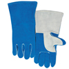 Safety-zone-leather-gloves: Best Welds - Quality Welding Gloves, Split Cowhide, Large, Blue