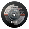 Bee Line Depressed Center Grinding Wheel, 7 Dia, 1/4 Thick, 5/8-11 Arbor, 24 Grit BEE 903-747T