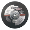 Bee Line Depressed Center Grinding Wheel, 9 Dia, 1/4 Thick, 5/8-11 Arbor, 30 Grit BEE 903-947T