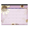 folders and binders and planners: Paper Flowers Desk Pad, 22 x 17, 2019