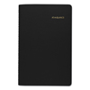 Clean and Green: Daily Appointment Book with 15-Minute Appointments, 8 x 4 7/8, Black, 2019