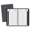 At A Glance Daily Appointment Book with 15-Minute Appointments, 8 x 4 7/8, Black, 2019-2020 AAG7080705