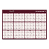 calendars: Reversible Horizontal Erasable Wall Planner, 48 x 32, 2019