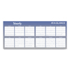 calendars: Large Horizontal Erasable Wall Planner, 60 x 26, White/Blue, 2018-2019