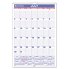 At A Glance AT-A-GLANCE® Monthly Wall Calendar with Ruled Daily Blocks AAG AY328