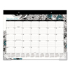 At A Glance Medley Desk Pad, 22 x 17, Adult Coloring/Black/White/Teal, 2018 AAG D1090704