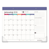 At A Glance Harmony Desk Pad, 22 x 17, Black/White/Berry, 2019 AAG D6099704