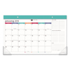 At A Glance Harmony Desk Pad, 17 3/4 X 9 7/8, Adult Coloring/Black/White/Teal, 2019 AAG D6099705