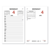 At A Glance AT-A-GLANCE® Two-Color Desk Calendar Refill AAG E01750