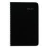 Clean and Green: Block Format Weekly Appointment Book w/Contacts Section, 4 7/8 x 8, Black, 2019