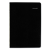 calendars: Monthly Planner, 7 7/8 x 11 7/8, Black Cover, 2018-2019