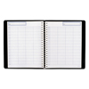 Clean and Green: Undated Four-Person Group Daily Appointment Book, 10 3/4 x 8 1/2, Black, 2020