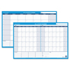 At A Glance 30/60-Day Undated Horizontal Erasable Wall Planner, 36 x 24, White/Blue, AAG PM23328