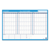 At A Glance 90/120-Day Undated Horizontal Erasable Wall Planner, 36 x 24, White/Blue, AAG PM23928