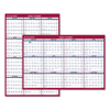 calendars: Erasable Vertical/Horizontal Wall Planner, 24 x 36, Blue/Red, 2019