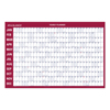At A Glance Horizontal Erasable Wall Planner, 36 x 24, White/Red, 2021 AAG PM2828