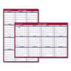 calendars: Erasable Vertical/Horizontal Wall Planner, 32 x 48, Blue/Red, 2019