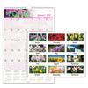 Clean and Green: Floral Wall Calendar, 15 1/2 x 22 3/4, Floral, 2019