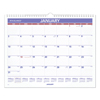 Clean and Green: Monthly Wall Calendar, 15 x 12, Red/Blue, 2019
