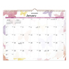 At A Glance AT-A-GLANCE® Watercolors Recycled Monthly Wall Calendar AAG PM91707