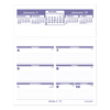 calendars: Flip-A-Week Desk Calendar Refill, 5 5/8 x 7, White, 2019