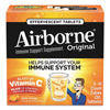energy drinks: Airborne® Immune Support Effervescent Tablet, Citrus, 30/Box