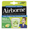 Airborne® Immune Support Effervescent Tablet, Lemon/Lime, 10/Box