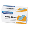 gloves: PhysiciansCare® Ambidextrous Non-Sterile Single Use Nitrile Medical Gloves