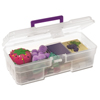 Akro-Mils 12 Plastic Art Supply Craft Storage Tool Box AKR 09912CLPUR CS