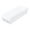 storage: Akro-Mils - 18 inch Clear Nesting Shelf Bin Box