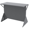 Media Organizers Media Sleeves Panels: Akro-Mils - Double-Sided Low Profile Louvered Floor Rack with Shelf