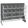 Akro-Mils Single-Sided Low Profile Louvered Floor Rack w/Clear Bins AKR 30656GYASSTSC