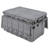 Akro-Mils Attached Lid Container AKR 39160GREY CS
