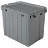 Akro-Mils Attached Lid Containers AKR 39170GREY CS