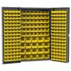 Akro-Mils Heavy-Duty Bin Cabinets - Louvered Back Wall, Louvered Doors, with Bins AKR HD4824F