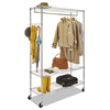 coat rack: Wire Shelving Garment Rack, Coat Rack, Stand Alone Rack w/Casters, Silver