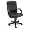 Alera Alera® Madaris Series High-Back Swivel/Tilt Leather Chair with Wood Trim ALEMA41LS10M