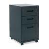 Alera Three-Drawer Metal Pedestal File, 14 7/8w x 19-1/8d x 27-3/4h, Black ALE PABBFBL