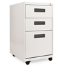 shelves and cabinets: Three-Drawer Metal Pedestal File, 14 7/8w x 19-1/8d x 27-3/4h, Light Gray