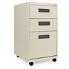 Alera Three-Drawer Metal Pedestal File, 14 7/8w x 19-1/8d x 27-3/4h, Putty ALE PABBFPY
