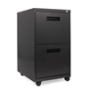 Filing cabinets: Two-Drawer Metal Pedestal File, 14 7/8w x 19-1/8d x 27-3/4h, Charcoal
