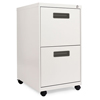 Alera Two-Drawer Metal Pedestal File, 14 7/8w x 19-1/8d x 27-3/4h, Light Gray ALE PAFFLG