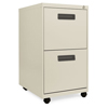 Filing cabinets: Two-Drawer Metal Pedestal File, 14 7/8w x 19-1/8d x 27-3/4h, Putty
