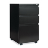 Alera Three-Drawer Metal Pedestal File With Full-Length Pull, 14 7/8w x 19 1/8d, Black ALE PBBBFBL