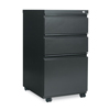 Alera Three-Drawer Metal Pedestal File w/Full-Length Pull, 14 7/8 x 19 1/8, Charcoal ALE PBBBFCH