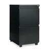Alera Two-Drawer Metal Pedestal File With Full-Length Pull, 14 7/8w x 19 1/8d, Black ALE PBFFBL