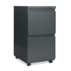 shelves and cabinets: Two-Drawer Metal Pedestal File w/Full-Length Pull, 14 7/8w x 19 1/8d, Charcoal