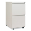 Alera Two-Drawer Metal Pedestal File With Full-Length Pull, 14 7/8w x 19 1/8d, Lt Gray ALE PBFFLG