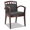 leatherchairs: Alera® Reception Lounge 500 Series Arch Back Cut-Out Wood Guest Chair