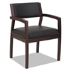 leatherchairs: Alera® Reception Lounge 500 Series Half Back Wood Guest Chair